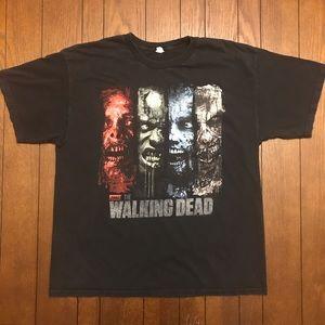 The Walking Dead T-Shirt Black Men's Size XL